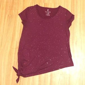 Juicy Couture Asymmetrical Sparkly Top